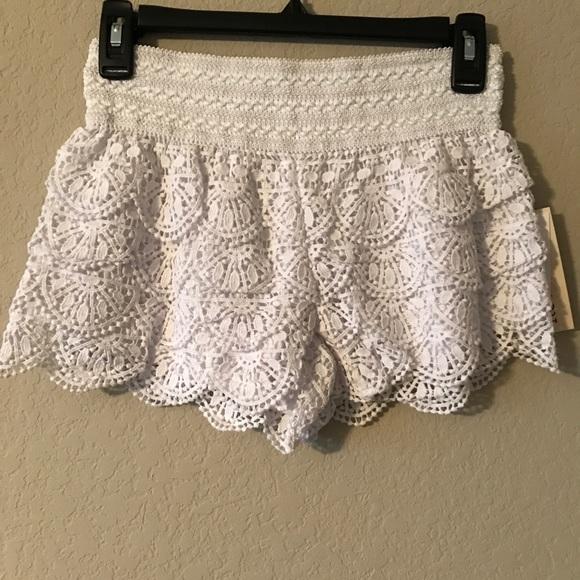 Rewind Shorts Crochet Lace Poshmark